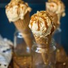Dulce de leche ice-cream with caramelized walnuts