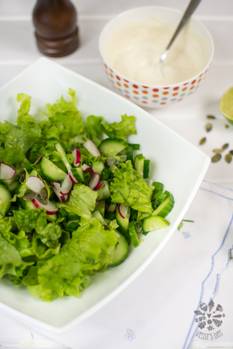 Salad with yogurt sauce (1 of 1)