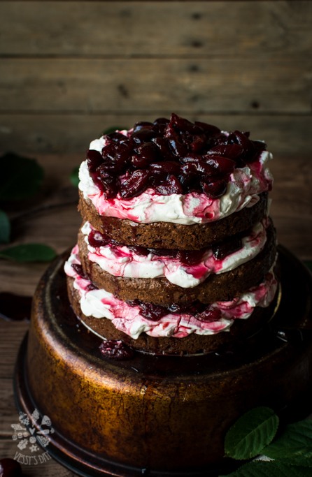 Chocolate spicy cherry cake
