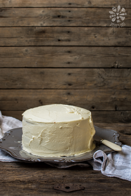 Sweet potato cake with white chocolate