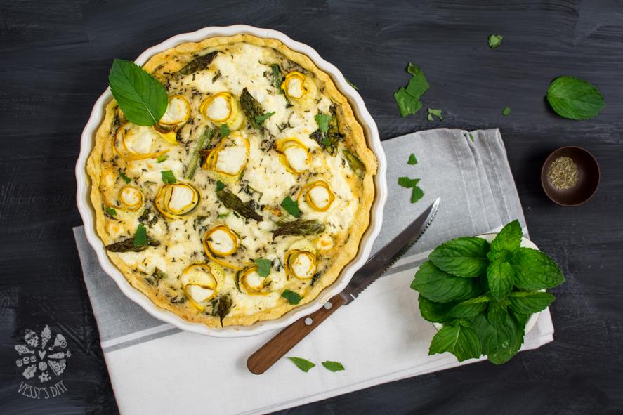 Ricotta & asparagus quiche-1