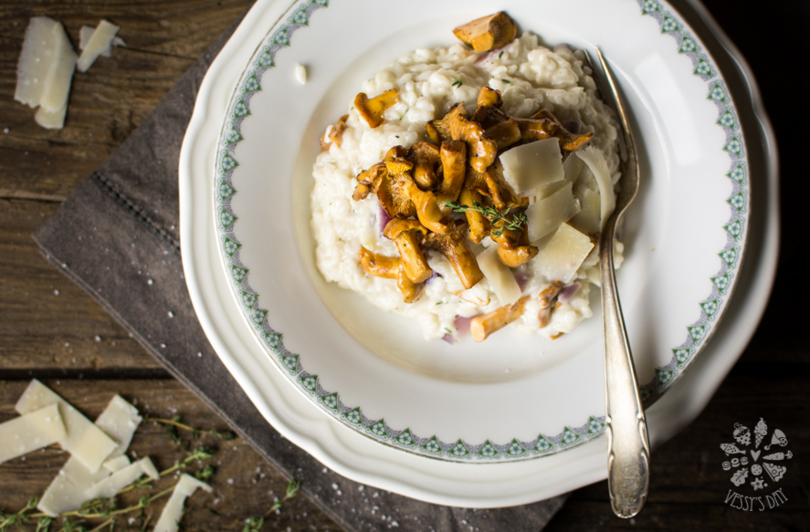 Wild mushroom risotto with mascarpone