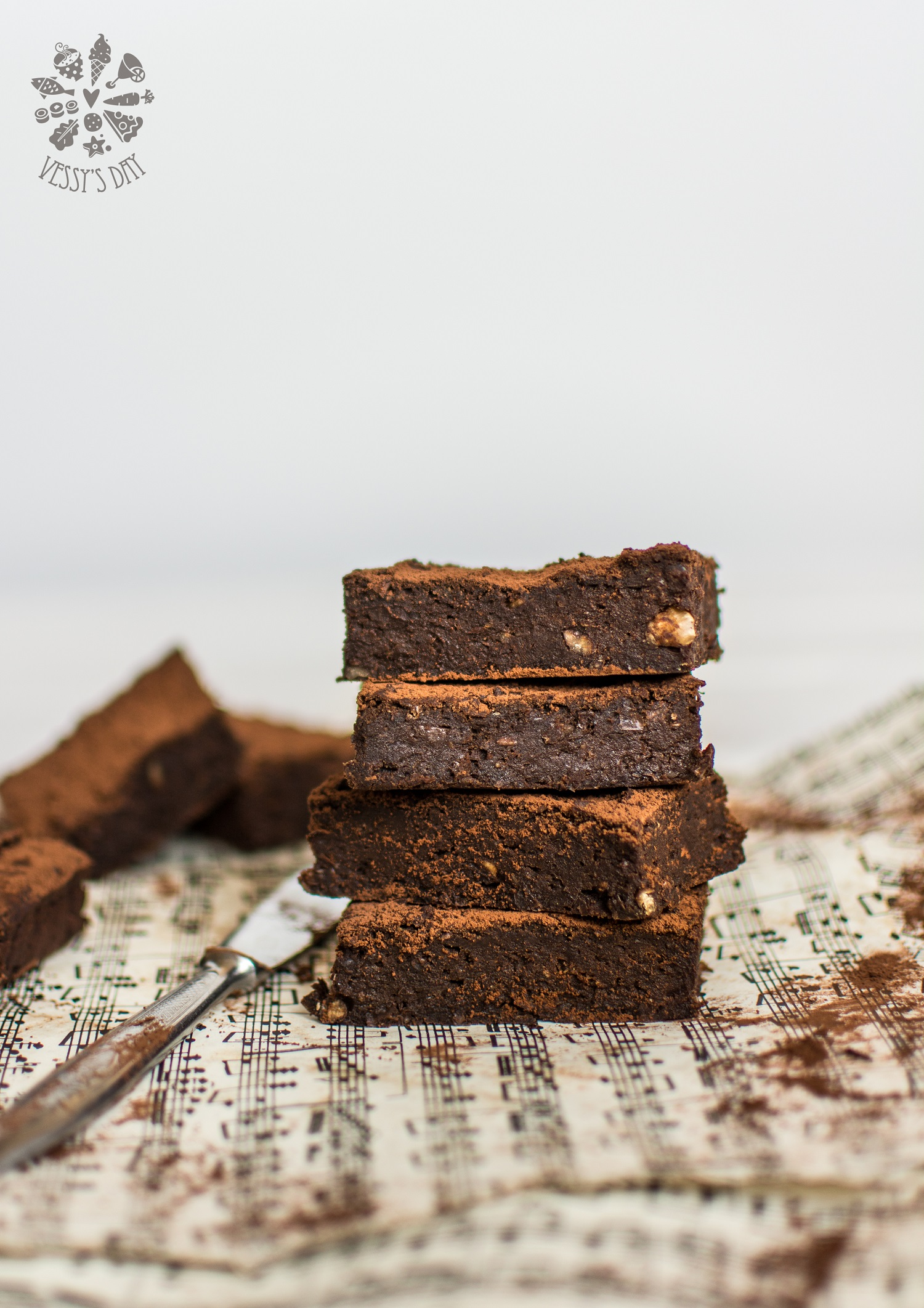 Adzuki beans chocolate brownies gluten free and vegan