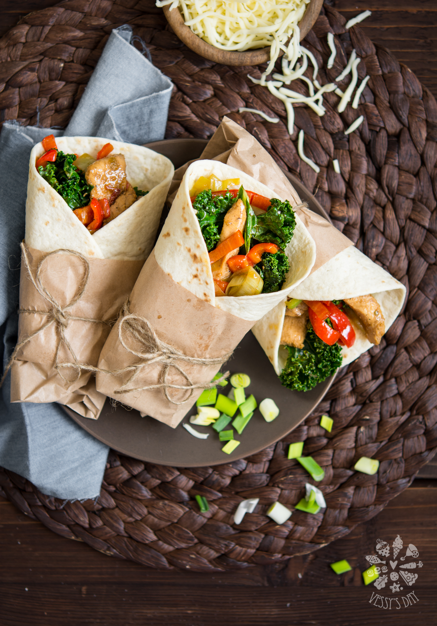 Chicken & kale tortillas
