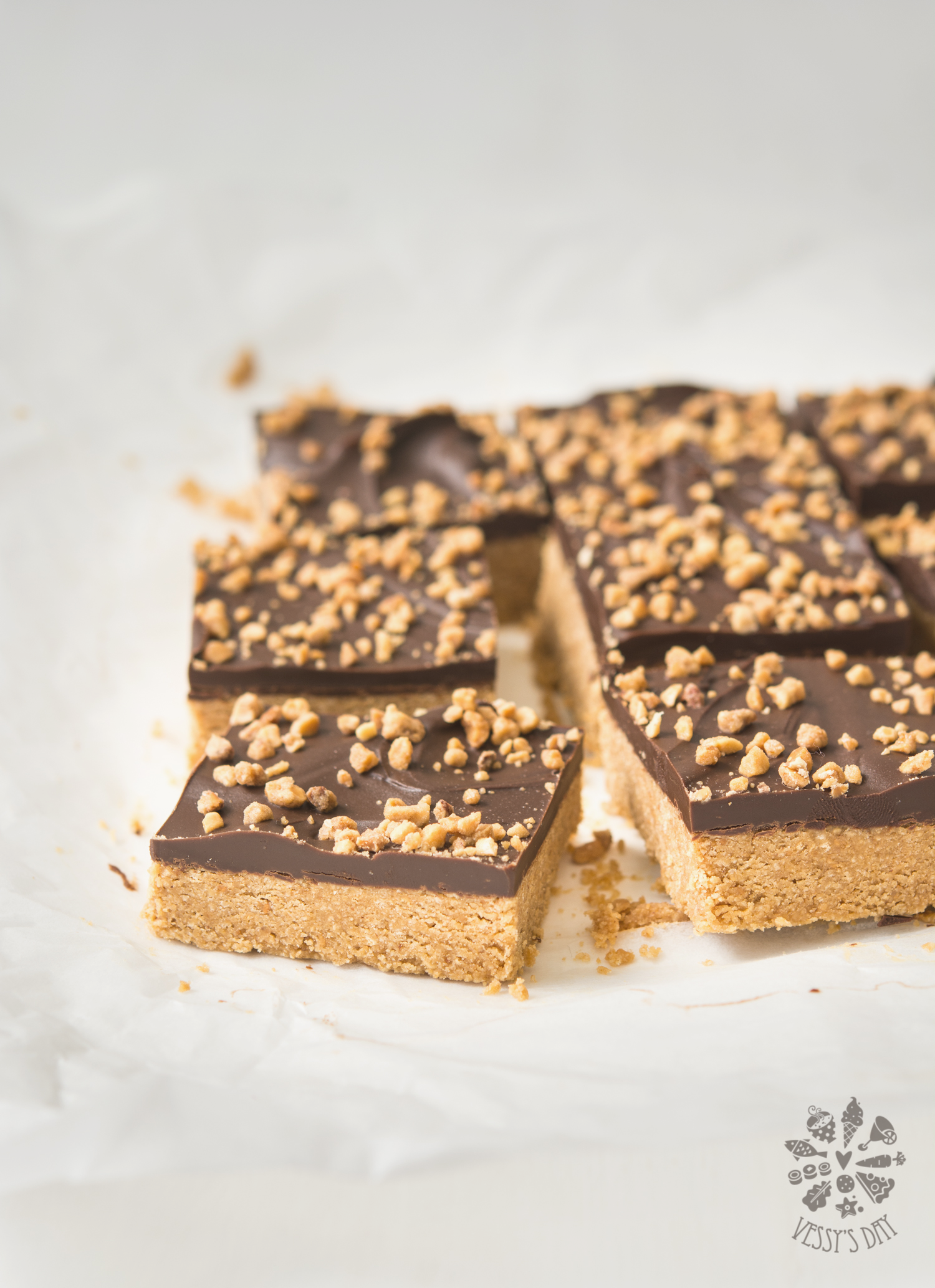 Peanut butter chocolate bars-9599