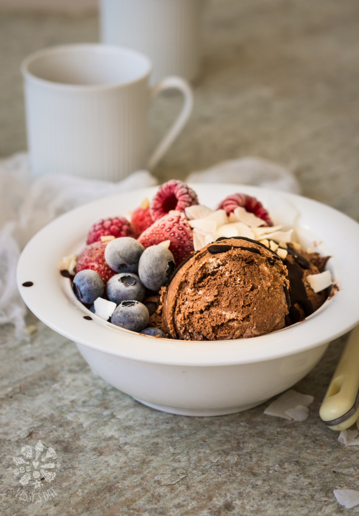Vegan chocolate ice-cream