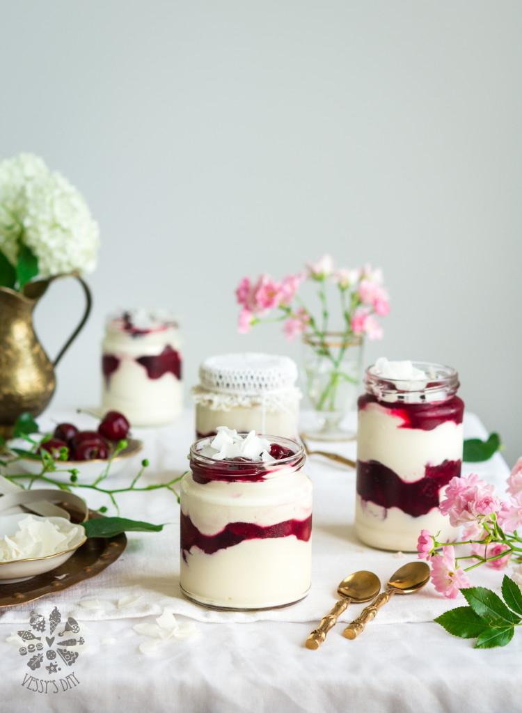Mascarpone cherry trifle
