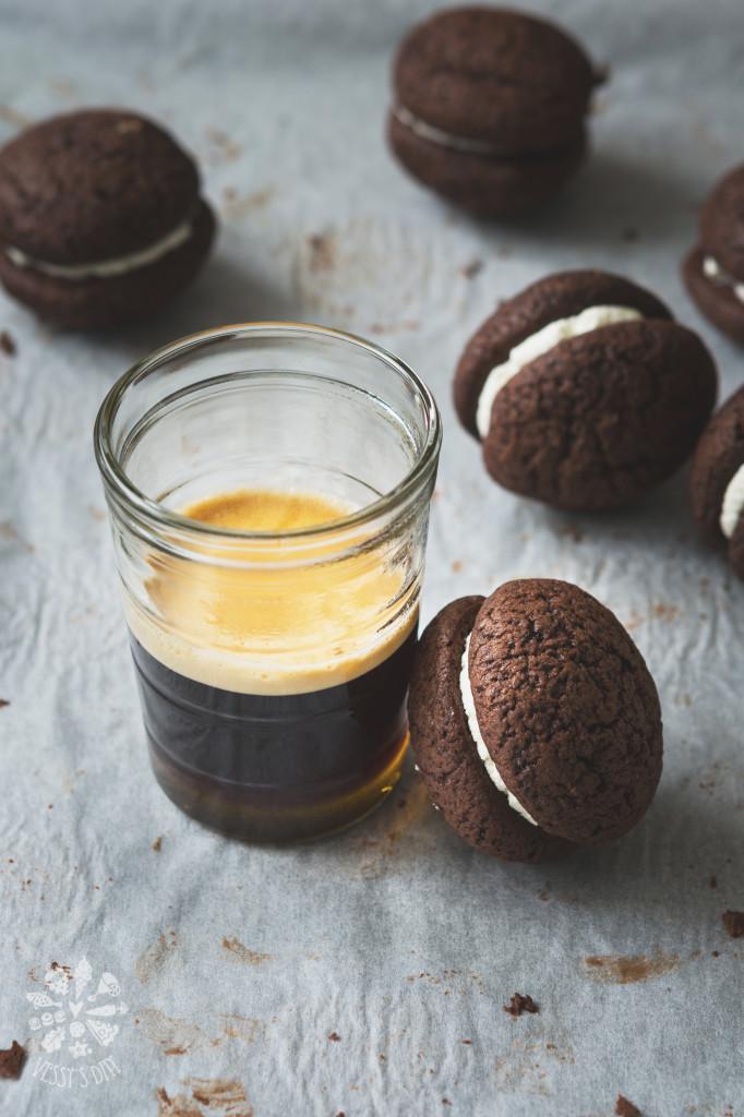 Chocolate chestnut whoopie pies