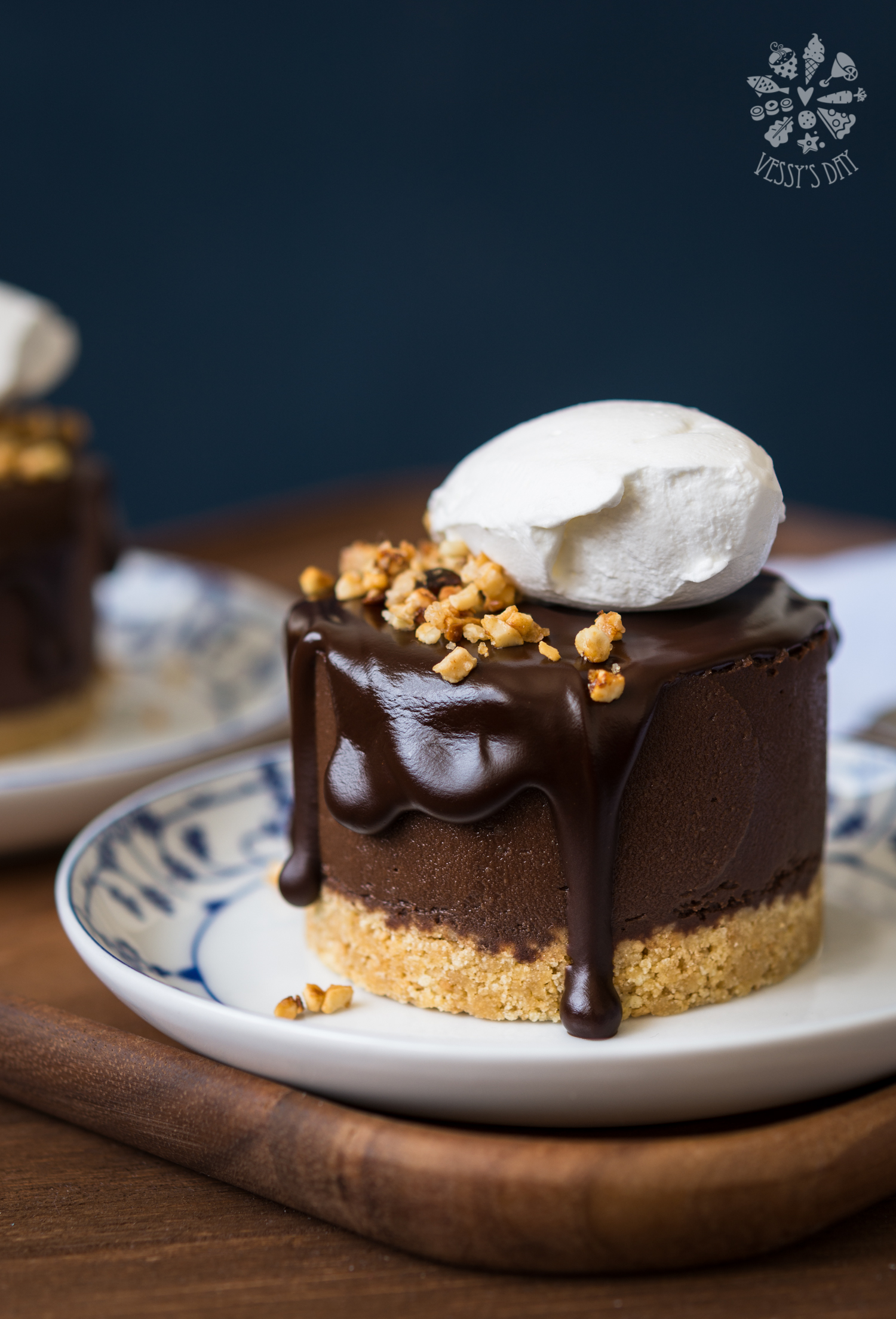 Double chocolate chestnut cakes | Vessy's day