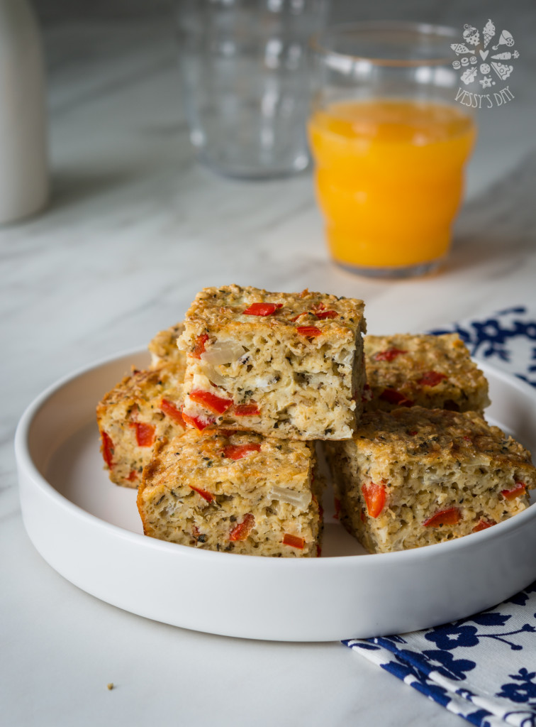 Breakfast oat veggie bars